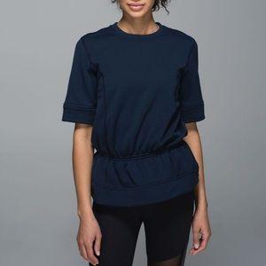Lululemon Inkwell Peplum Pullover Top